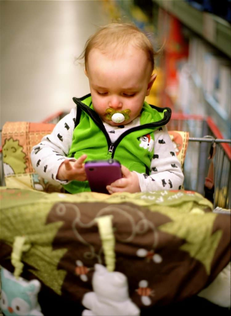 Baby Swiping Smart Phone