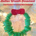 DIY Button Wreath Ornament