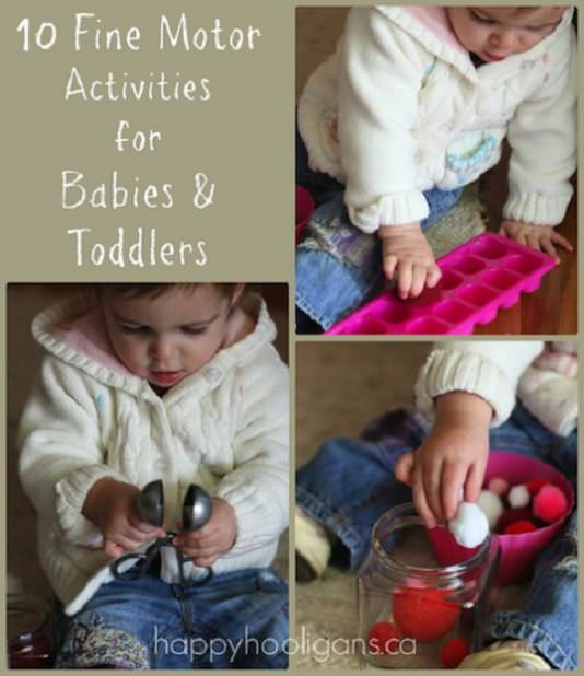 Cognitive development activities for babies and toddlers for Small motor activities for infants