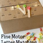 Fine Motor Letter Matching Acitivty