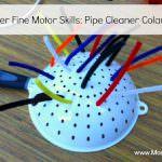 Develop Fine Motor Skills with Colander