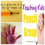 Teaching Kids Pencil Grasp