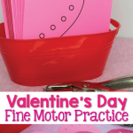 Valentine Fine Motor Cutting Practice