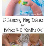 Five Sensory Experiences for Babies 4-6 Months Old